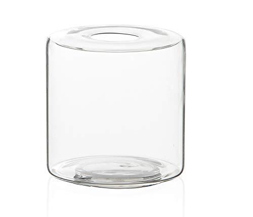 Vaso Anhua Glass, Etna, Transparente, 11cm