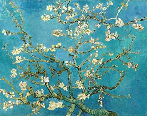 Amendoeira em Flor de Vincent van Gogh - 60x76 - Tela Canvas Para Quadro