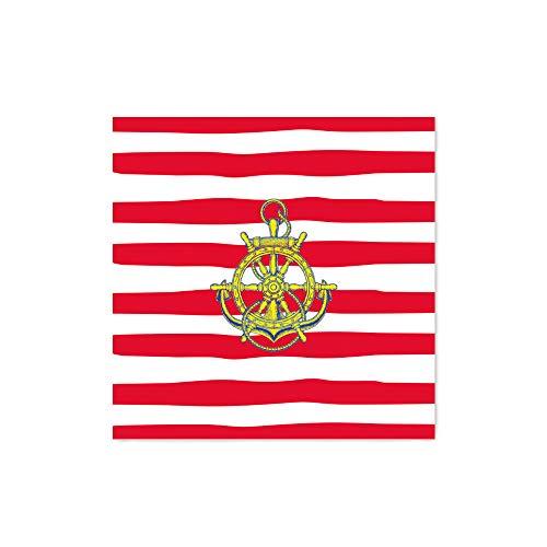 Arte Maníacos Quadro Decorativo Marinheiro Brasão - 30x30cm