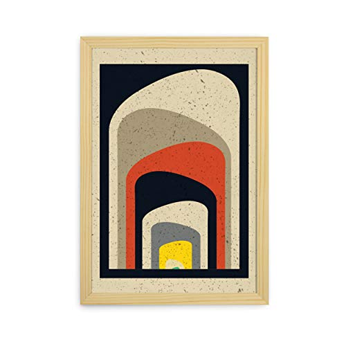 Quadro Decorativo 33x47 Moldura Slim Pinus 160452200, Design Up, Colorido