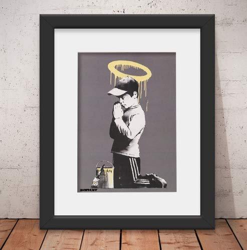 Quadro Decorativo Banksy Street & Vidro Anti-Reflexo& Paspatur 46x56cm Qt28