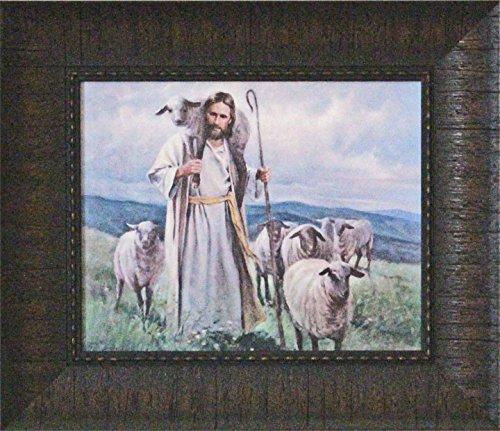 Quadro emoldurado de Jesus O Bom Pastor, por Del Parson