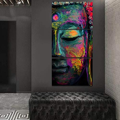 Quadros Decorativos Buda 60x120 Parede Sala Budismo Abstrato